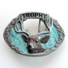 Big Bull Elk Trophy 3D mens C&J Pewter belt buckle
