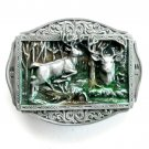 The Whitetail Deer 3D P.I. Pewter belt buckle