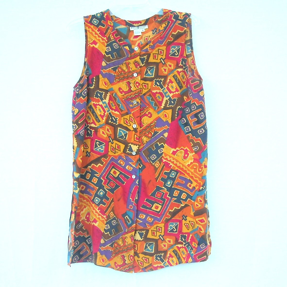 Real Clothes Saks Fifth Avenue Womens Silk Top Size M
