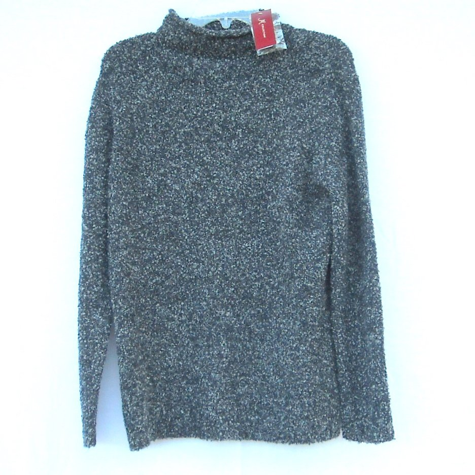 JM Collection Misses Womens Knit Blouse Roll Collar Sweater Size M NWT