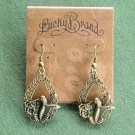 Hummingbird Lucky Brand Gold Tone Dangle Earrings