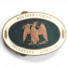 Vintage Western Union Telegraph Company metal belt buckle