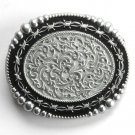 Silver Strike 3D ornate mens metal belt buckle