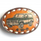 Tony Lama Leather Ford Bronco 4WD belt buckle