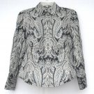 Ann Taylor Petites womens silk blouse shirt top size OP