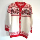 Handmade Womens Hand Knit Wool Cardigan Ugly Sweater Top