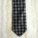 Puritan black All Silk designer tie mens necktie