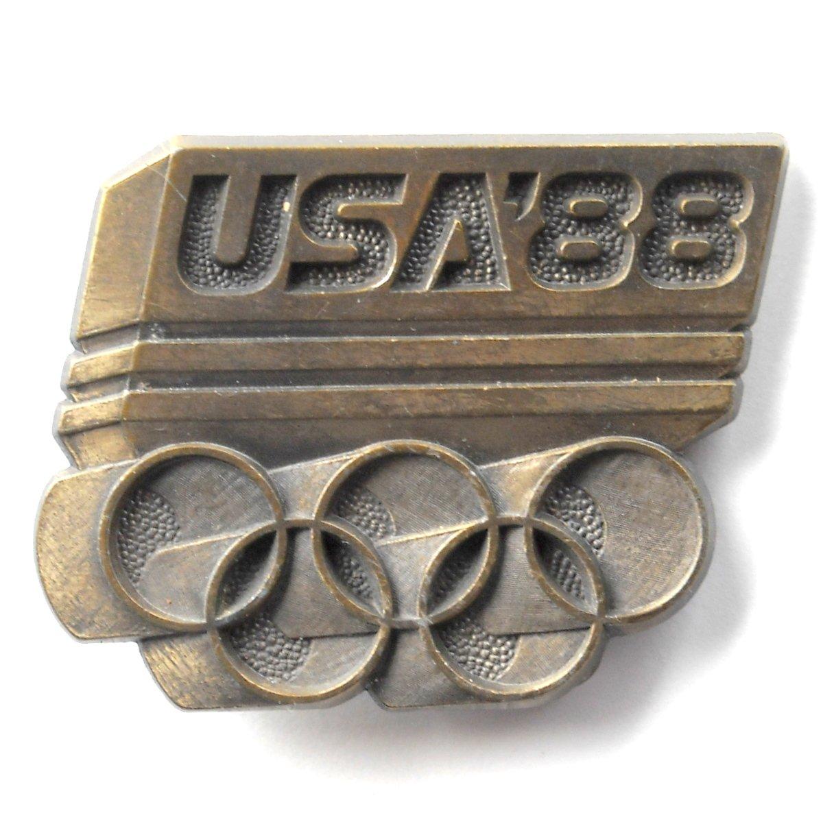 XXX USA 88 Olympics 1988 mens Brass color belt buckle