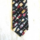 D'em Crazy Tie Wine Design Cotton Mens Necktie