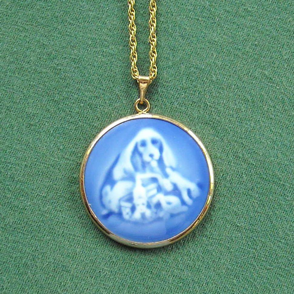 Bing & Grondahl Copenhagen Denmark Vintage Porcelain Necklace