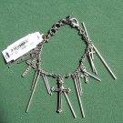 Lucky Brand Silver Tone 6 Cross Charm Bracelet NWT