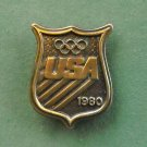 Vintage USA 1980 Olympics Bergamot brass belt buckle