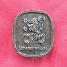 Vintage Lowenbrau 1975 Bergamot brass belt buckle # 2