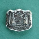 New vintage Royal Coat of Arms belt buckle NIB