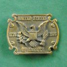 Vintage United States Of America Brass Belt Buckle
