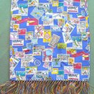 Royal L.G.T. womens postal stamps printed scarf