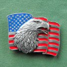 American eagle and flag Siskiyou used belt buckle