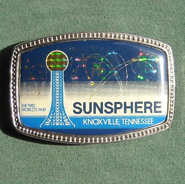 Sunsphere 1982 Worlds Fair Knoxville Tennessee Belt Buckle