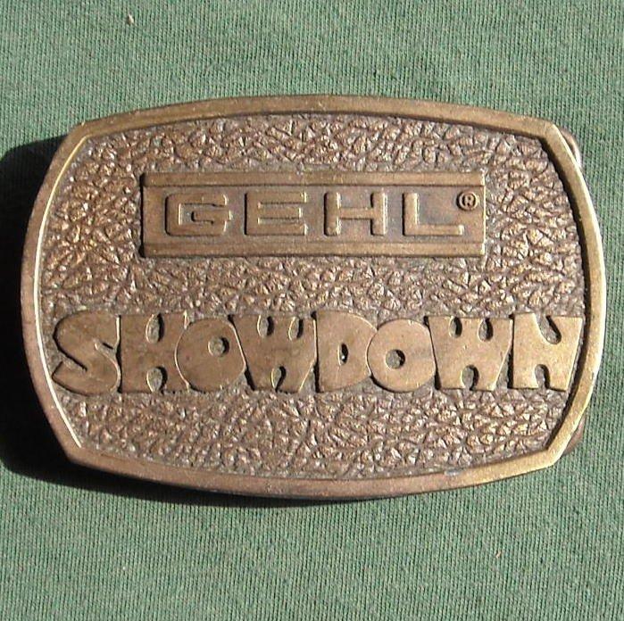 Gehl Showdown Bergamot Brass 1976 Belt Buckle