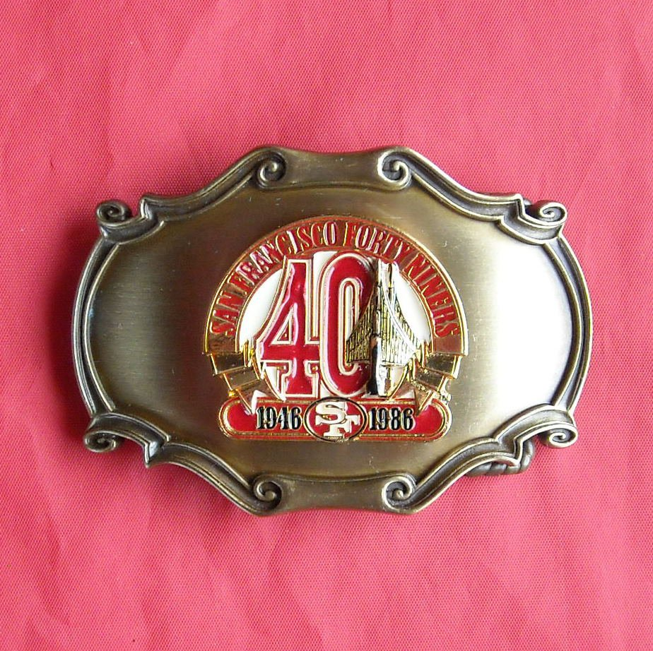 Raintree San Francisco Forty Niners 49ers belt buckle