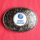 Vintage Sonat Marina silver color men's belt buckle