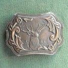 Elk Vintage Wyoming Studio Art Works James Lind 1974 belt buckle
