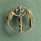 Vintage Caduceus unique medical sign belt buckle