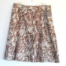 Merona women's pleated 100% silk skirt size 10 NWT