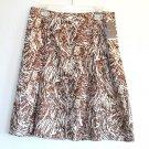 Merona Womens Pleated Silk Skirt Size 10 NWT