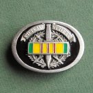 Vietnam Veteran 1996 GAP Belt Buckle with Vietnam Service Medal Ribbon