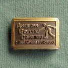 ABC American Bowling Congress vintage belt buckle