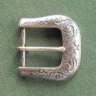 Vintage Western Style Ornate silver tone belt buckle