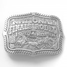 National Finals Rodeo Hesston NFR 1999 mens Pewter color belt buckle