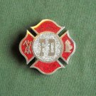 FD Fire Department red vintage heavy belt buckle