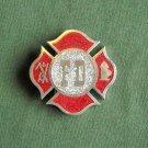 FD Fire Department red vintage heavy belt buckle