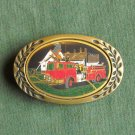 Vintage Heritage solid brass Fire Department belt buckle