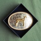 Montana Silversmiths German Silver Champion belt buckle