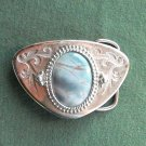 Vintage stone silver color belt buckle