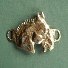 Vintage Mustang horse brass ornament buckle