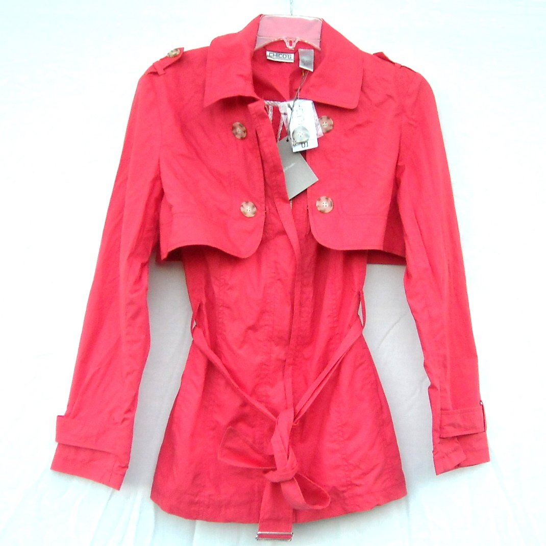 Chico's Junior Two In One Trench Jacket Vest size 1