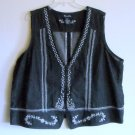 Denim & Co Womens Embroidered Vest Size 2X