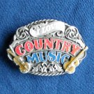 I Love Country Music Siskiyou vintage 1988 belt buckle