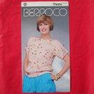 Vintage Berroco Poppy Eyelet Check Pullover knitting pattern # 683