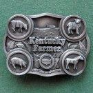 Vintage Kentucky Farmer American Farm Heritage 1987 pewter #16 belt buckle