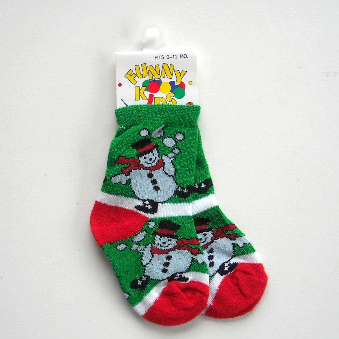 Funny Kids baby booties Snowman socks 0 - 12 month NWT