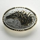 Wild Horse Western Look Gold and Silver color belt buckle
