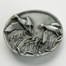 Flying Mallard Ducks Mens Pewter 1983 belt buckle
