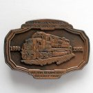 Vintage Locomotive No 2584 Brass metal alloy belt buckle