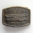 Vintage Wright Brothers 1903 Kitty Hawk Brass Color Belt Buckle