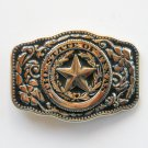 Vintage The State Of Texas Star Silver color metal alloy belt buckle